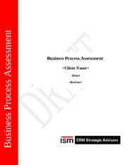 Business Process Assessment Template