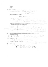 Exam 1 Solution on Calculus 2