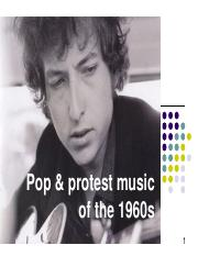 Protest music of the 1960s(2)