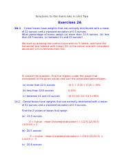 Solutions to the Exercises in Unit Two
