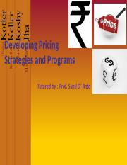 EPGDMS Term 2 - MM - 10 - Pricing Strategies  Programs.pptx