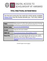 Crime Urban Poverty and Social Science_DBR