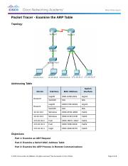 5.2.1.7 Packet Tracer - Examine the ARP Table Instructions.docx
