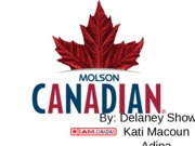 molson canadian english