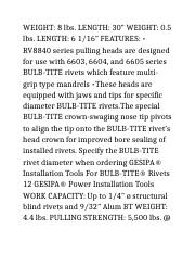 Blind Rivets and Riveting (Page 52-54)