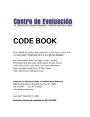 Code Book Example (revised by cbc)