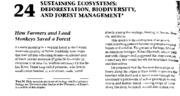 Sustaining Ecosystems-Deforestation, Biodiversity, and Forest Management
