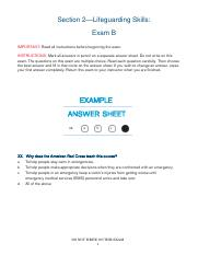 Lifeguarding Skills- Exam B.pdf