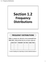 1.3 - Frequency Distributions (Solutions)