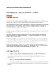 Resume Packet. Rodriguez - Task 1 Job Search and Position ...