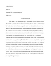 Theater Contrast Essay