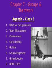 MGHB02 Class 5 - Groups and Teamwork Slides.ppt