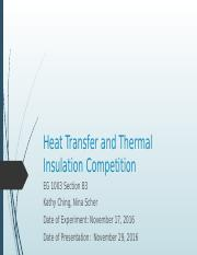 Lab #11: Heat Transfer and Thermal Insulation Competition.pptx