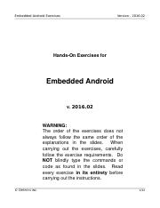 G-Android Embedded Exercises