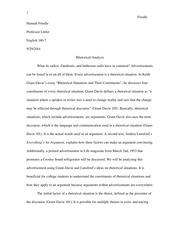 essay rhetorical analysis loreal advertisement kerchenski  8 pages rhetorical analysis essay