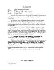 MEMORANDUM - For Legal Brief