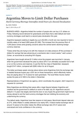 Argentina Moves to Limit Dollar Purchases - WSJ