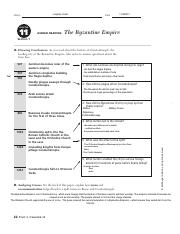 the byzantine empire luqman yusuf name date chapter 11 guided rh coursehero com Byzantine Empire Symbol Byzantine Empire Flag