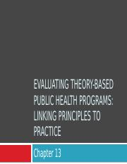 Ch. 13 Evaluating Theory-Based PH Programs.pptx