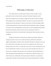 Philosophy of Education (1).docx