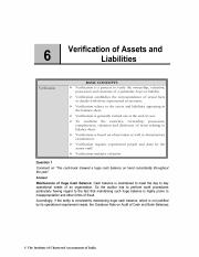 Chapter 6 Verification of Assets and Liabilities