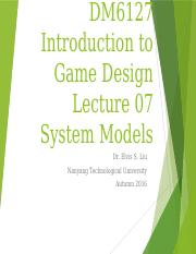 Lecture07 - System Models.pptx