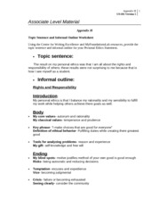 topic sentence and informal outline worksheet How to write an argumentative essay chris endy  topic sentence  which ideas from your outline are compelling and which ones are confused or irrelevant.