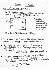 Physics- Simple Circuits Class Notes