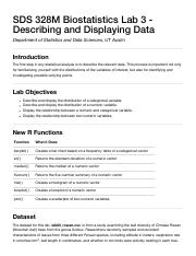 SDS 328M Biostatistics Lab 3 - Describing and Displaying Data.pdf