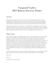 SCVC 2013 Battery Audition Packet FULL
