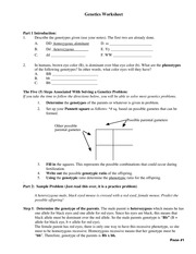 Printables Genetics Worksheet chapter 7 genetics problems phenotypic ratio of the offspring 6 15 pages d34299 worksheet