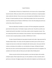 Assignment 2 - Imperial Presidency n.docx