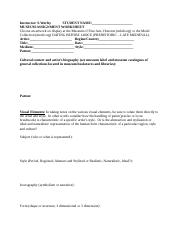 MUSEUM_ASSIGNMENT_WORKSHEET_SURVEY_I.doc