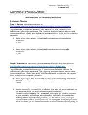 Worksheet Estate Planning Worksheet retirement estate planning worksheet and 2 pages week 4 doc