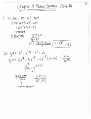 Exam 2 Review Solutions - Ch 4