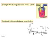 Chapter 4 - Energy Balance on CSTR and Cycles