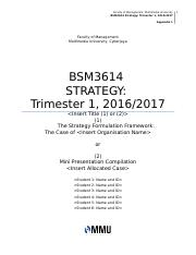 BSM3614 assignment documents