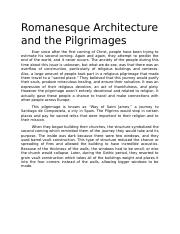 Romanesque Architecture and the Pilgrimages