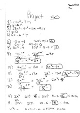 Math 110, Project linear equations