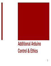 Arduino Control and Ethics Lecture
