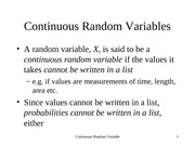 Revision 06. Random Variable Normal