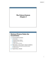 Ch 3 The Federal System