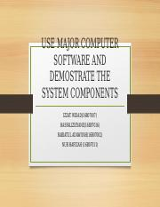 USE MAJOR COMPUTER SOFTWARE AND DEMOSTRATE THE SYSTEM.pptx