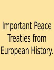 Important Peace Treaties from European History.ppt