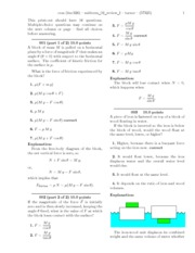 PHY 303K Midterm 2 Review I Solutions