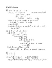 HW06 Solutions- Matrices