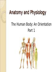Unit 1 - The Human Body - An Orientation.ppt