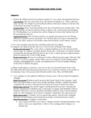 Marketing Study Guide Section 2