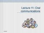 BCOM Session 11 Oral essentials