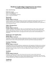 Student Leadership Competencies Inventory